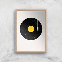 Florent Bodart Music Everywhere Art Print - A4 - Wood Frame - Music Gifts