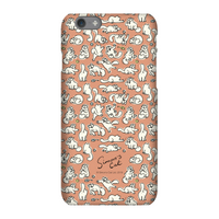 Simons Cat Chasing Toys Phone Case for iPhone and Android - Samsung S6 Edge - Snap Case - Matte