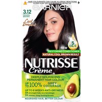 Garnier Nutrisse Permanent Hair Dye (Various Shades) - 3.12 Frozen Brown