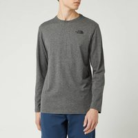 The North Face Mens Long Sleeve Red Box T-Shirt - Medium Grey Heather - L