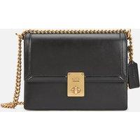 shop for Coach Women's Refined Calf Leather Hutton Shoulder Bag - Black at Shopo
