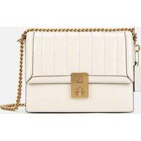 shop for Coach Women's Souffle Quilting Hutton Shoulder Bag - Chalk at Shopo