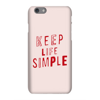 The Motivated Type Keep Life Simple Phone Case for iPhone and Android - iPhone X - Tough Case - Glos