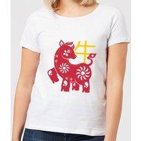 Chinese Zodiac Ox Women's T-Shirt - White - M - White