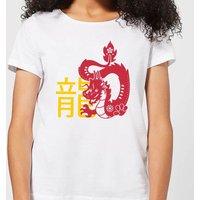 Chinese Zodiac Dragon Women's T-Shirt - White - 3XL - White