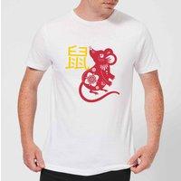Chinese Zodiac Rat Men's T-Shirt - White - S - White