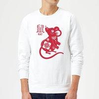 Year Of The Rat Sweatshirt - White - XXL - White