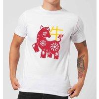 Chinese Zodiac Ox Men's T-Shirt - White - 3XL - White