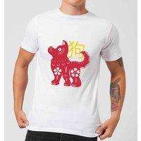 Chinese Zodiac Dog Men's T-Shirt - White - XXL - White - Dog Gifts