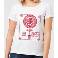 Happy Chinese New Year Red Women's T-Shirt - White - M - White