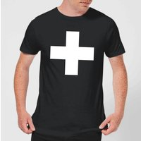 The Motivated Type Swiss Cross Men's T-Shirt - Black - XS - Black