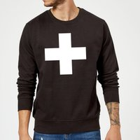 The Motivated Type Swiss Cross Sweatshirt - Black - S - Black