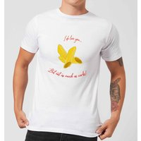 I Love You But Not As Much As Carbs Men's T-Shirt - White - S - White