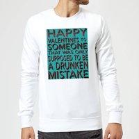 Drunken Mistake Sweatshirt - White - XL - White