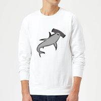 Hammer Head Shark Sweatshirt - White - S - White