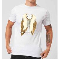 Nuzzling Barn Owls Men's T-Shirt - White - L - White