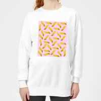 Penne Pasta Pink Women's Sweatshirt - White - XXL - White