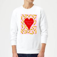 I Love You As Much As I Love Pasta Sweatshirt - White - S - White