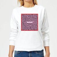 I Love You Word Search Women's Sweatshirt - White - S - White