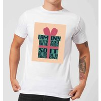 Only With You For The Present Men's T-Shirt - White - 4XL - White