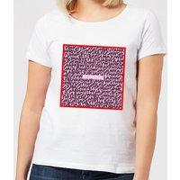 I Love You Word Search Women's T-Shirt - White - 5XL - White
