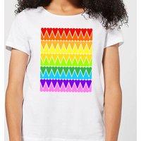 Rainbow Heart Upside Down Women's T-Shirt - White - 3XL - White