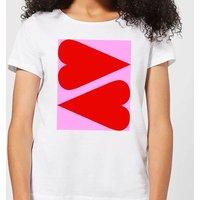 Giant Red Hearts Women's T-Shirt - White - 5XL - White