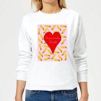 I Love You As Much As I Love Pasta Women's Sweatshirt - White - XS - White