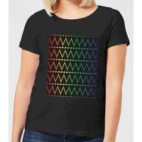 Mini Heart Print On Rainbow Women's T-Shirt - Black - 4XL - Black