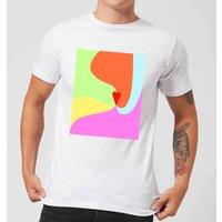 Rainbow Love Swirl Men's T-Shirt - White - XS - White
