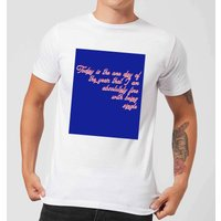 Don't Mind Being Single Today Men's T-Shirt - White - 5XL - White
