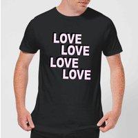 Love Love Love Love Men's T-Shirt - Black - XXL - Black