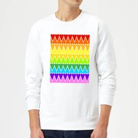 Rainbow Heart Upside Down Sweatshirt - White - M - White