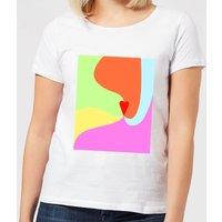 Rainbow Love Swirl Women's T-Shirt - White - 5XL - White