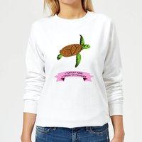 I Turtley Have A Crush On You Dude Women's Sweatshirt - White - M - White
