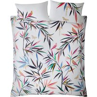 Sara Miller Bamboo Print Duvet Set - White - Single