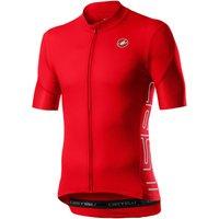 Castelli Entrata V Jersey - XL - Fiery Red