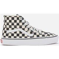 Vans Women's Sk8-Hi Tapered Checkerboard Hi-Top Trainers - Black/True White - UK 6