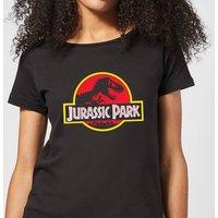 Classic Jurassic Park Logo Women's T-Shirt - Black - XXL - Black
