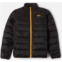 Barbour International Boys Reed Quilted Jacket - Black/Yellow - M
