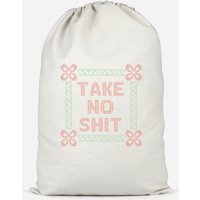 Take No Shit Cotton Storage Bag - Small