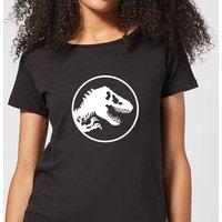 Jurassic Park Circle Logo Women's T-Shirt - Black - L - Black