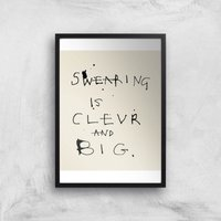 Poet and Painter Swearing Is Giclee Art Print - A2 - White Frame