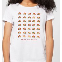 Poet and Painter Follow Your Rainbow Women's T-Shirt - White - L - White
