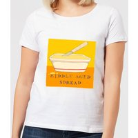 Poet and Painter Middle Aged Spread Women's T-Shirt - White - XL - White