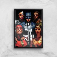 DC Justice League Giclee Art Print - A4 - Black Frame