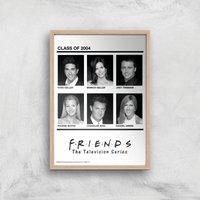 Friends Class Of 2004 Giclee Art Print - A2 - Wooden Frame