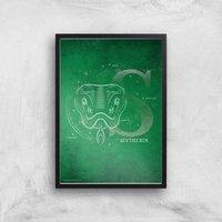 Harry Potter Slytherin Giclee Art Print - A3 - Black Frame