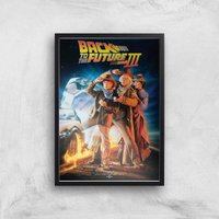 Back To The Future Part 3 Giclee Art Print - A2 - Black Frame
