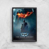 The Dark Knight Giclee Art Print - A3 - Black Frame